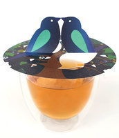 6x Twin LOVE BIRDS mit Umschlag
