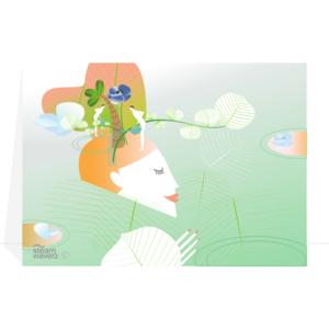 Steam-Waverz, greetingcard,gardenlovers, wenskaart