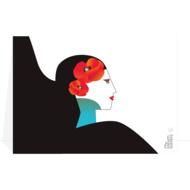 Steam-Waverz, greetingcard, Lady-poppy, wenskaart